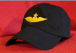 Continental Airlines First Officer Pilot wings hat