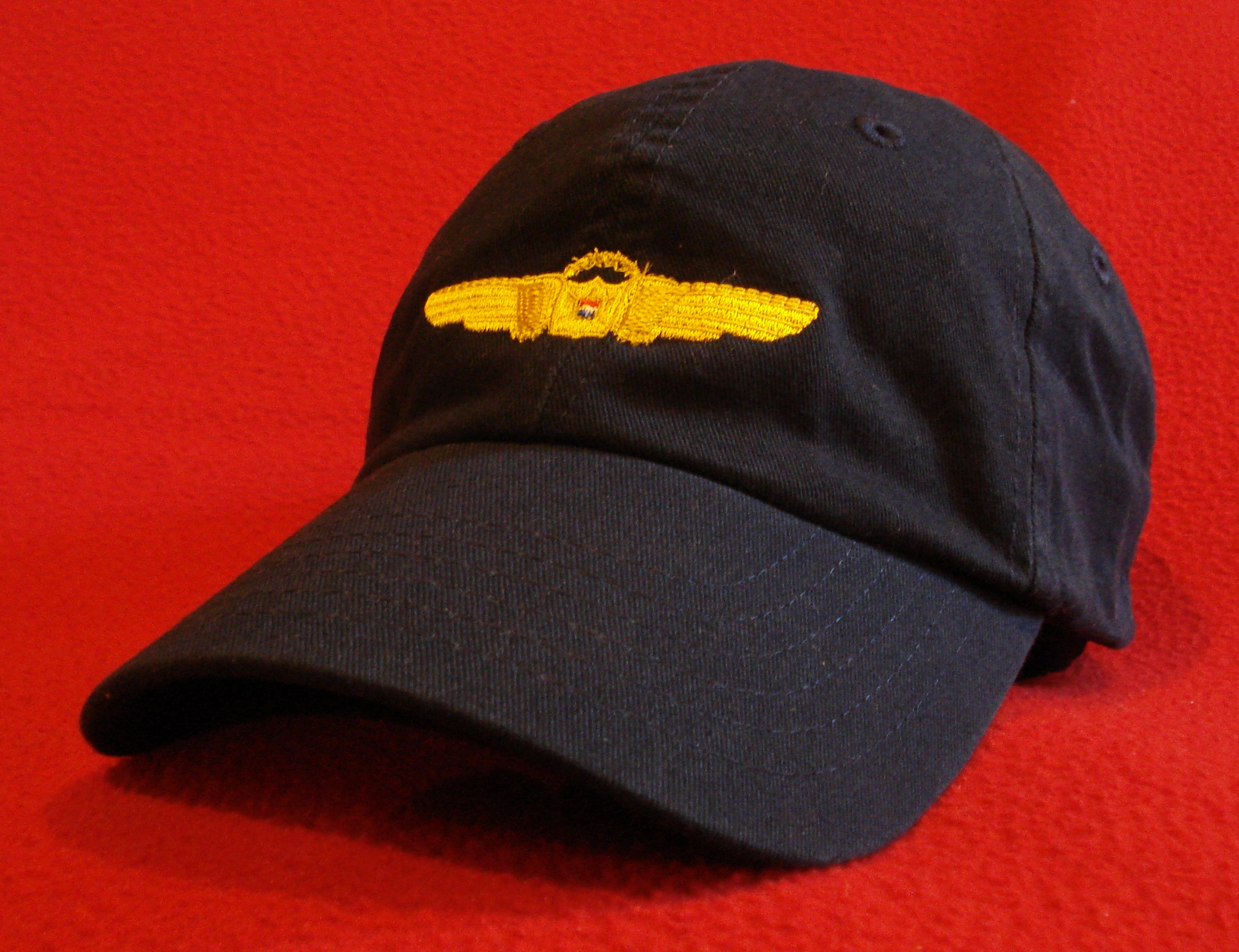 Retro Delta Air Lines First Officer Pilot Wings ball cap Stone hat retired